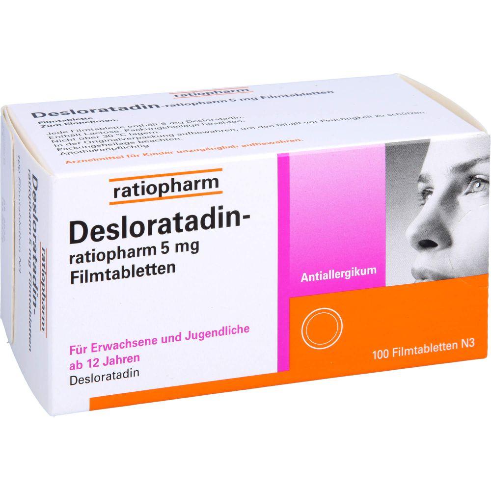 DESLORATADIN-ratiopharm 5 mg Filmtabletten