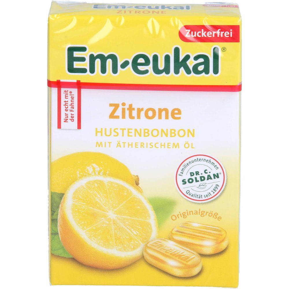 EM EUKAL Bonbons Zitrone zuckerfrei Box