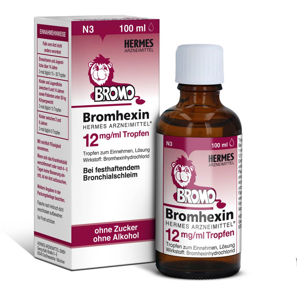 BROMHEXIN Hermes Arzneimittel 12 mg/ml Tropfen