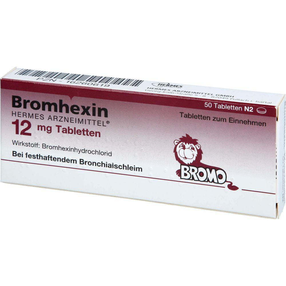 BROMHEXIN Hermes Arzneimittel 12 mg Tabletten