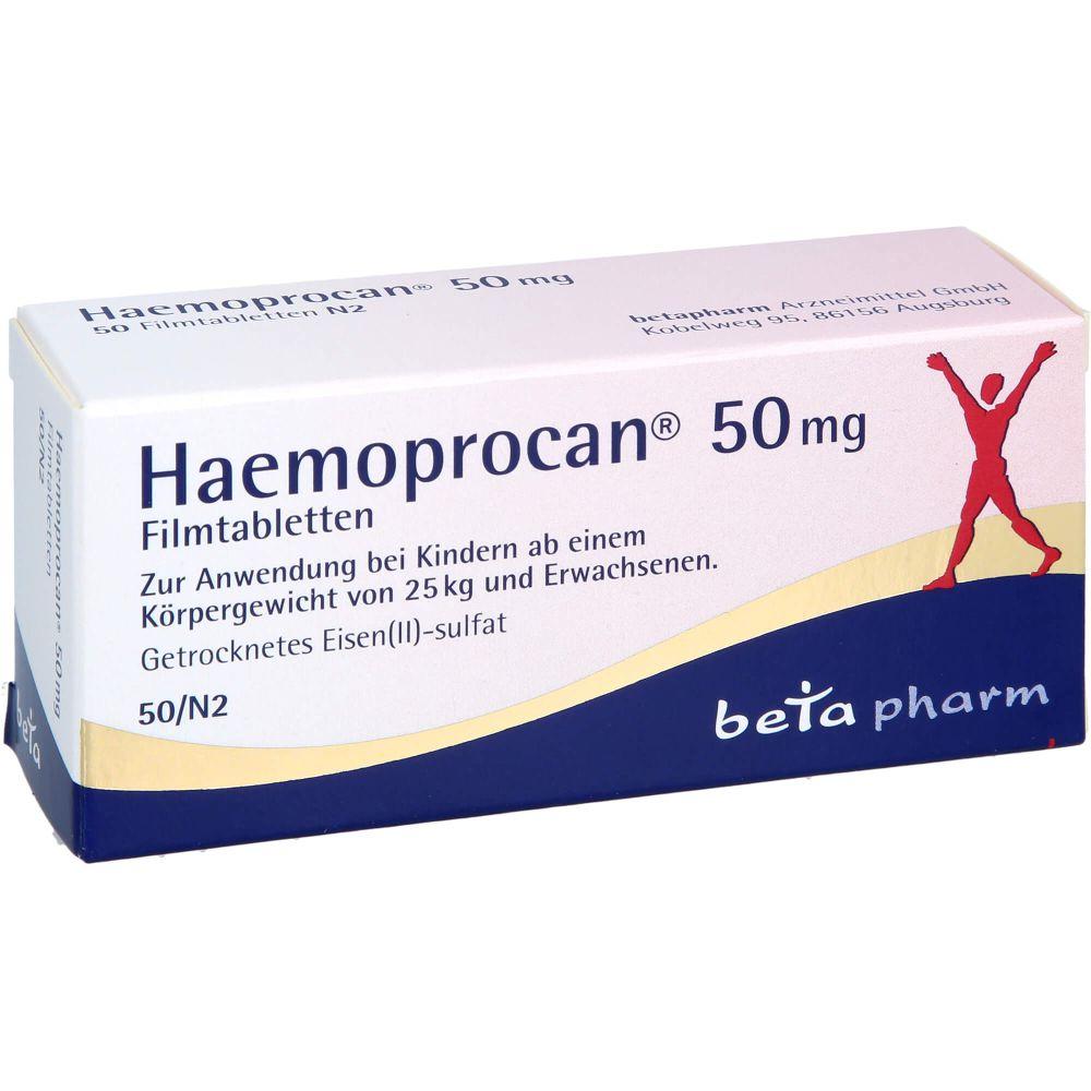 HAEMOPROCAN 50 mg Filmtabletten