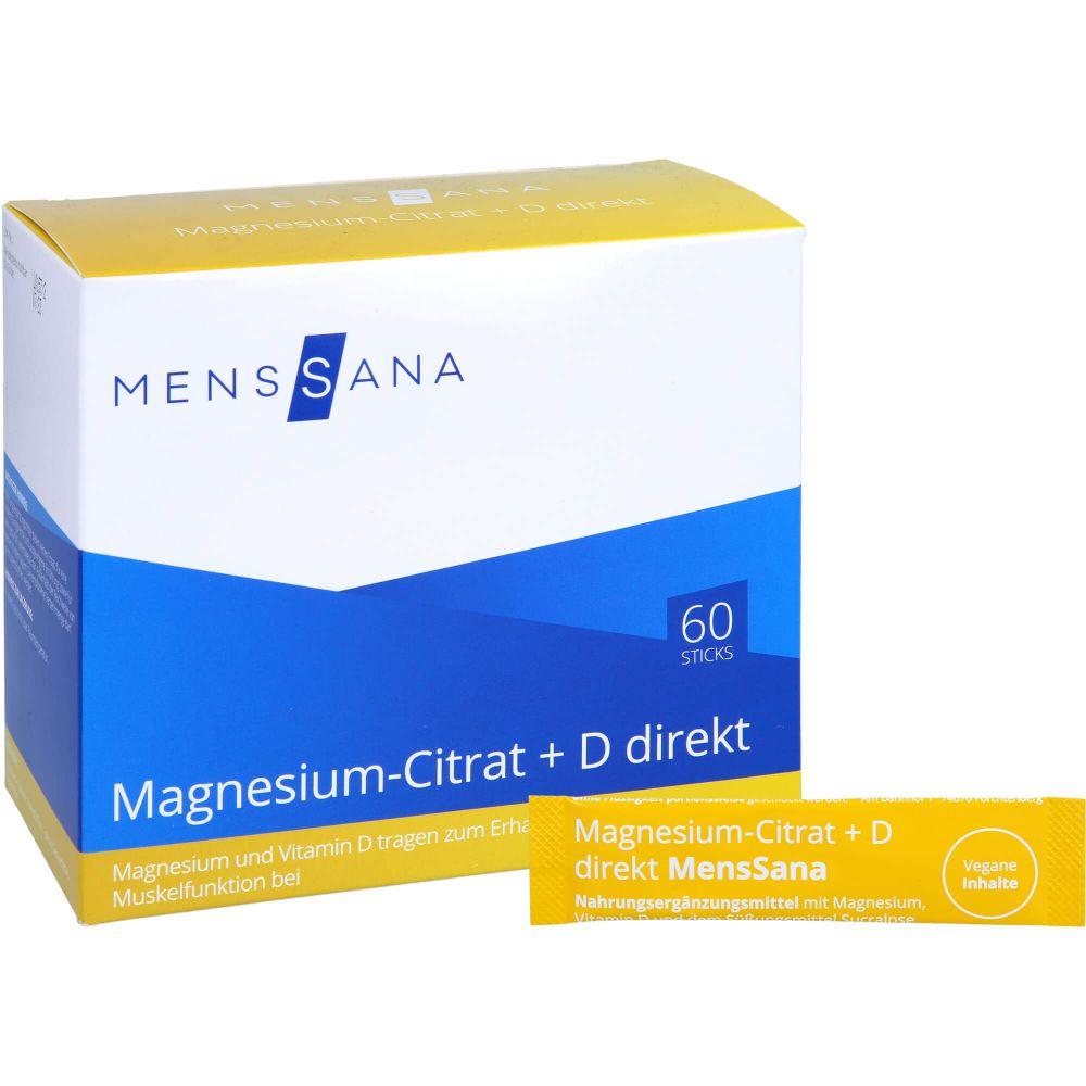 MAGNESIUMCITRAT+D direkt MensSana Pulver