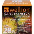 WELLION Safetylancets 28 G Sicherheitseinmallanz.