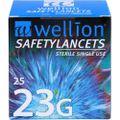 WELLION Safetylancets 23 G Sicherheitseinmallanz.