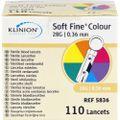 SOFT FINE colour Lanzetten 28 G 0,36 mm