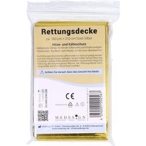 RETTUNGSDECKE 160x220 cm gold/silber