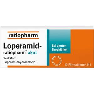 LOPERAMID-ratiopharm akut 2 mg Filmtabletten