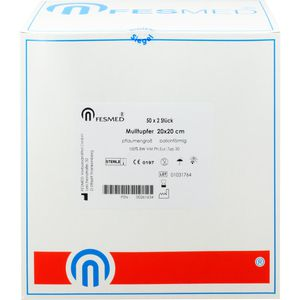MULLTUPFER 20x20 cm pflaumengroß ballonf.steril