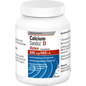 CALCIUM SANDOZ D Osteo 500 mg/400 I.E. Kautabl.