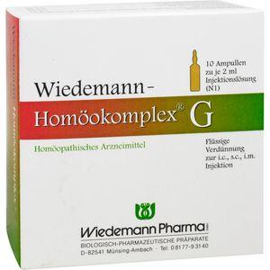 WIEDEMANN Homöokomplex G Ampullen