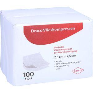VLIESSTOFF-KOMPRESSEN 7,5x7,5 cm unsteril