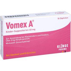 VOMEX A Kinder-Suppositorien 40 mg