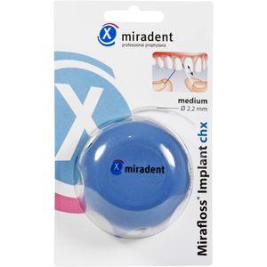 MIRADENT Zahnseide Mirafloss Implant CHX medium