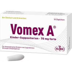 VOMEX A Kinder-Suppositorien 70 mg forte