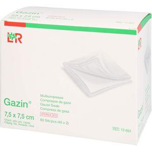 GAZIN Mullkomp.7,5x7,5 cm steril 12fach