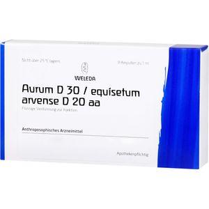 AURUM D 30/Equisetum arvense D 20 aa Ampullen