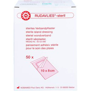 RUDAVLIES-steril Verbandpflaster8x10 cm