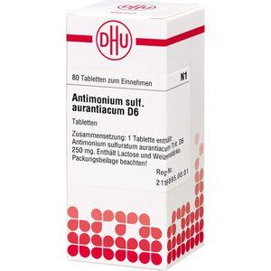 ANTIMONIUM SULFURATUM aurantiacum D 6 Tabletten