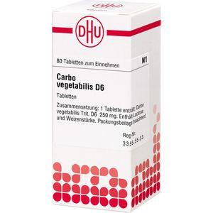 CARBO VEGETABILIS D 6 Tabletten