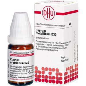 CUPRUM METALLICUM D 30 Globuli