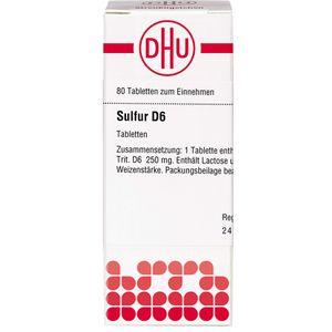 SULFUR D 6 Tabletten