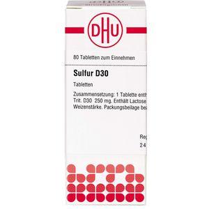 SULFUR D 30 Tabletten