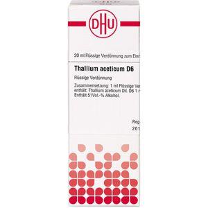 THALLIUM ACETICUM D 6 Dilution