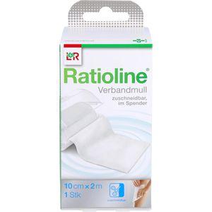 RATIOLINE acute Verbandmull 10 cmx2 m gerollt