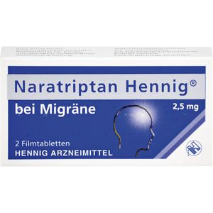 NARATRIPTAN Hennig bei Migräne 2,5 mg Filmtabl.