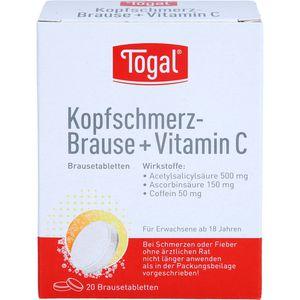 TOGAL Kopfschmerz-Brause + Vit.C Brausetabletten