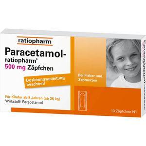 PARACETAMOL-ratiopharm 500 mg Zäpfchen