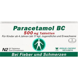PARACETAMOL BC 500 mg Tabletten