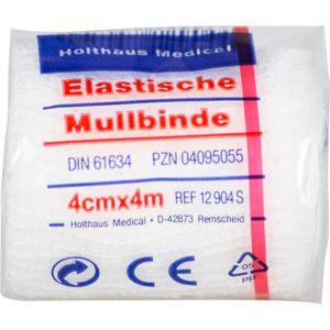 MULLBINDEN elastisch 4 cmx4 m
