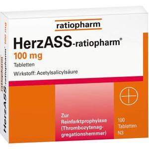 HERZASS ratiopharm 100 mg Tabletten