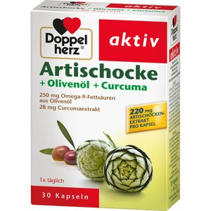 DOPPELHERZ Artischocke+Olivenöl+Curcuma Kapseln