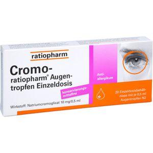 CROMO RATIOPHARM Augentropfen Einzeldosis