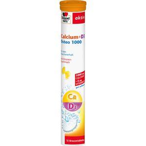 DOPPELHERZ Calcium+D3 Osteo 1.000 Brausetabletten