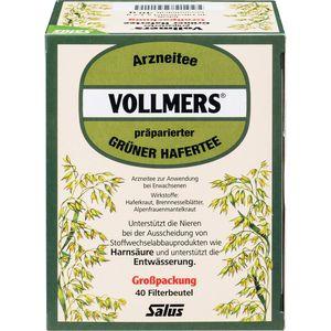 VOLLMERS präparierter grüner Hafertee Filterbeutel