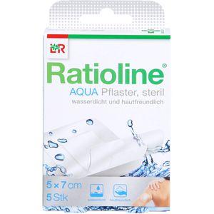 RATIOLINE aqua Duschpflaster Plus 5x7 cm steril