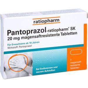 PANTOPRAZOL-ratiopharm SK 20 mg magensaftres.Tabl.
