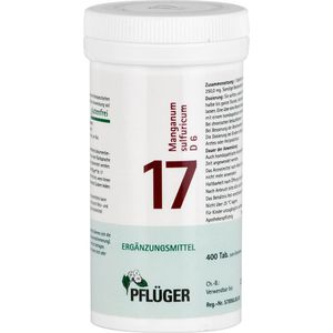 BIOCHEMIE Pflüger 17 Manganum sulfuricum D 6 Tabl.