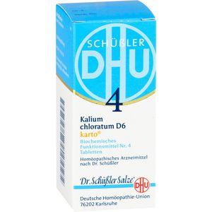 BIOCHEMIE DHU 4 Kalium chloratum D 6 Tabl.Karto