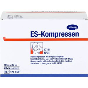ES-KOMPRESSEN steril 10x20 cm 12fach Großpackung