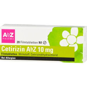 CETIRIZIN AbZ 10 mg Filmtabletten