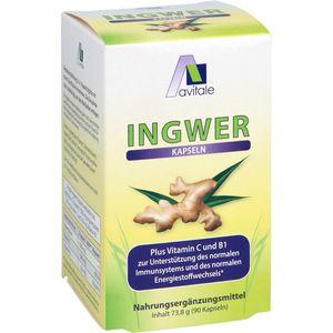 INGWER 500 mg Kapseln+Vitamin B1+C