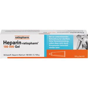 HEPARIN-RATIOPHARM 180.000 I.E. Gel