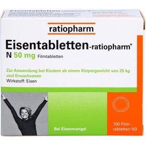 EISENTABLETTEN-ratiopharm N 50 mg Filmtabletten