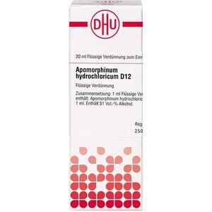 APOMORPHINUM HYDROCHLORICUM D 12 Dilution
