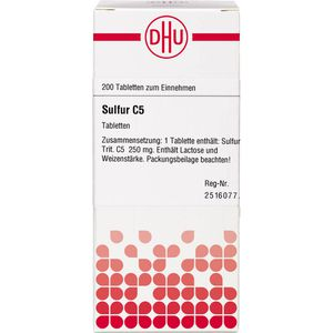 SULFUR C 5 Tabletten