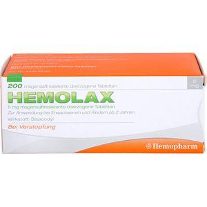 HEMOLAX 5mg magensaftresis. überzogene Tabletten